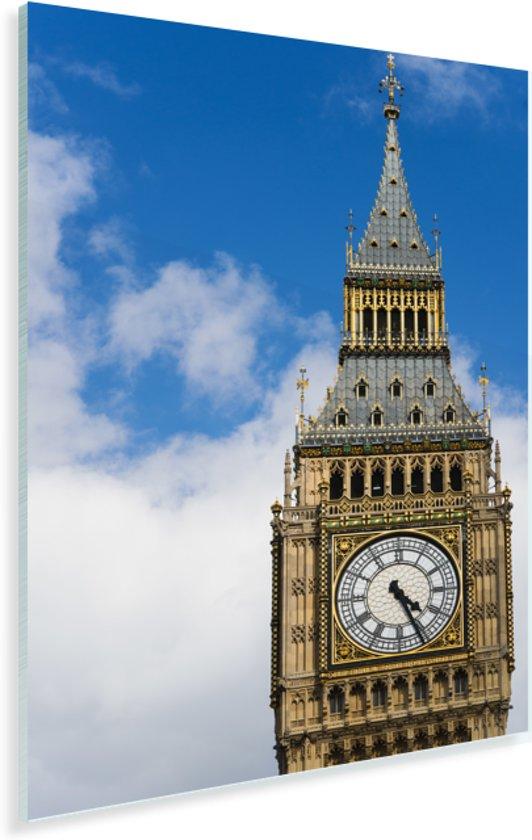 Close up van de klokkentoren van de Big Ben in Londen Plexiglas 80x120 cm - Foto print op Glas (Plexiglas wanddecoratie)