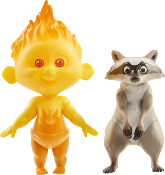 Incredibles Champion Series Figures : Jack-Jack & Raccoon
