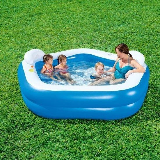 Opblaasbaar zwembad met stoeltjes - 213x207x69cm - familie
