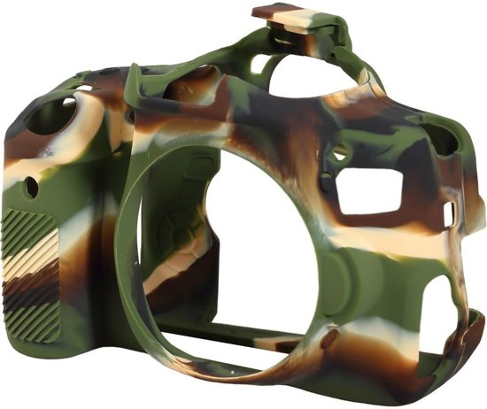 easyCover Silicone cover voor Canon 750D - camouflage