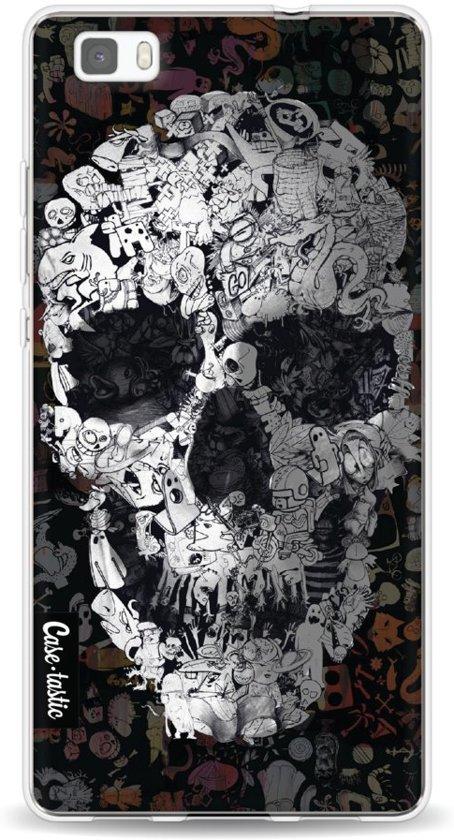 Casetastic Doodle Skull BW - Huawei P8 Lite