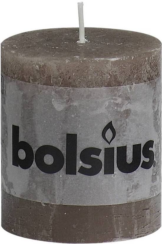 Bolsius Rustieke Stompkaars - 80/68 - Taupe - 1 Stuk