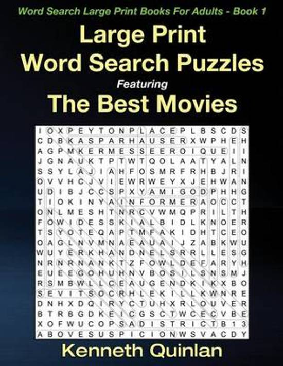 Large Print Word Search Puzzles Featuring the Best Movies