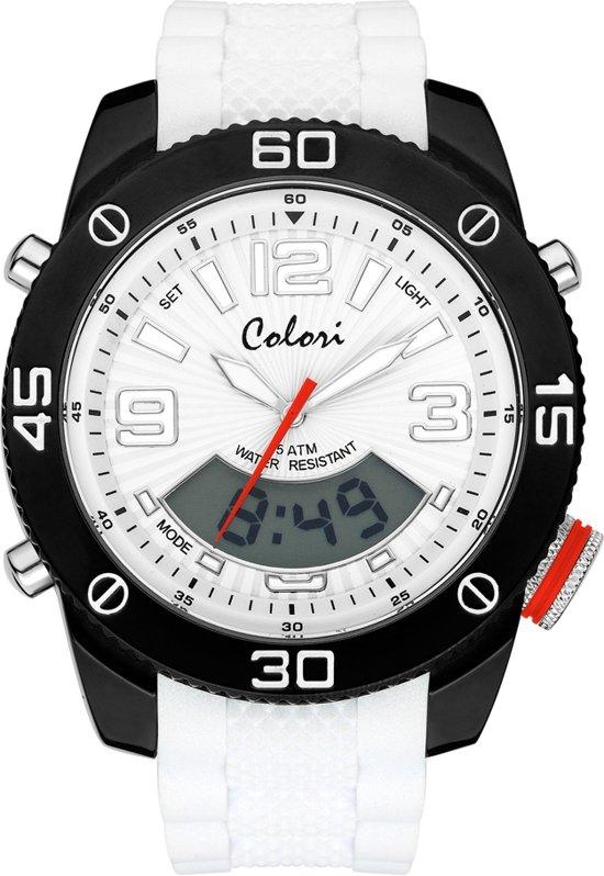 Colori 5-CLD024 - Horloge - Wit - Ø 52 mm