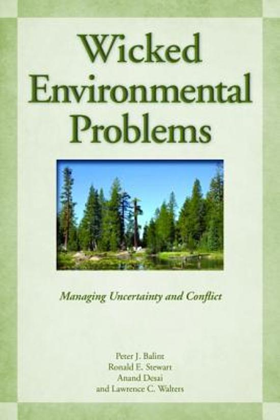 Wicked Environmental Problems