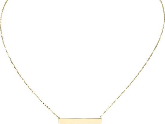 Glow ketting balk - goud (14 kt) - 42 + 3 cm