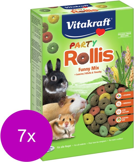 Vitakraft Rollis Party - Knaagdiersnack - 7 x 500 g
