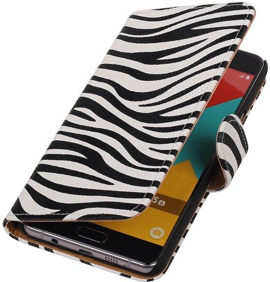Zebra bookcase voor de Samsung Galaxy A5 (2016) wallet hoesje in Armhoede