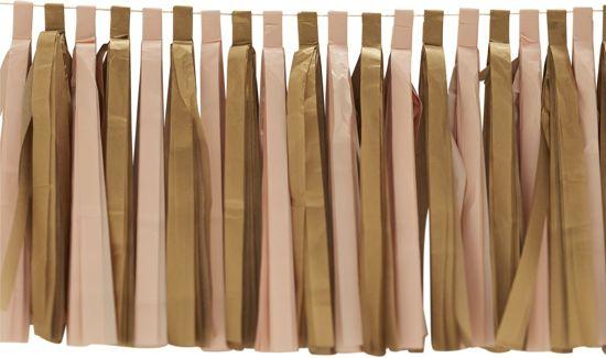 Ginger Ray Pastel Perfection - Tassel kwasten slinger - Pastel roze/goud - 2,50 meter Valentinaa