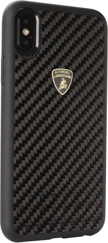 Lamborghini backcover hoesje S-Skin Apple iPhone XR Zwart - Carbon fiber - Carbon fiber