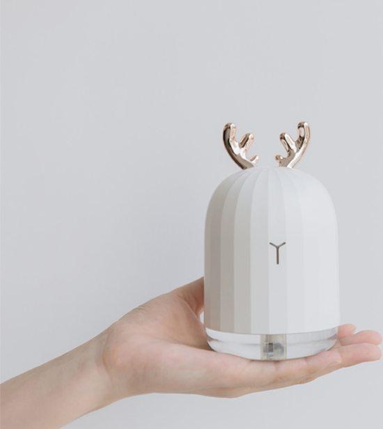 MaaHype Mini Aroma Diffuser - Luchtbevochtiger met USB - Geurverspreider - Ultrasone Olie Vernevelaar Verdamper - 220ml - Roze / Konijn