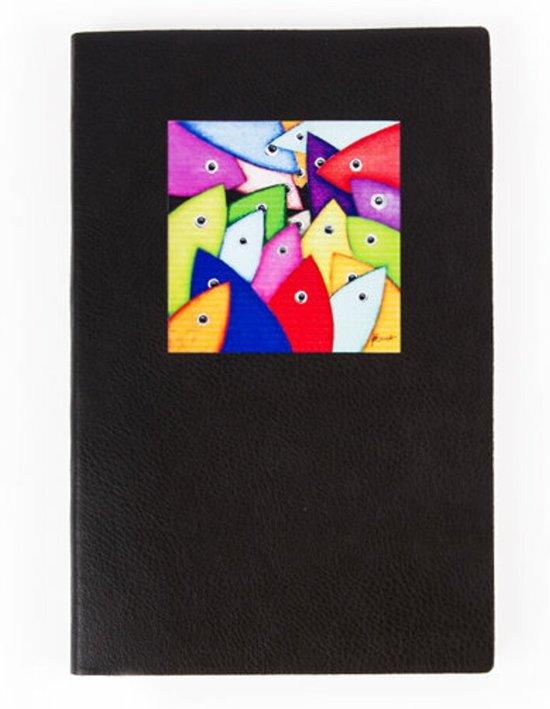 Biggdesign Granatte Kladblok | Metalen deksel | Pocket Kalender | Speciaal kunstenaarontwerp | Ongevoerd ongedateerd blad | 10x15 cm | Tweekleurig vel | Origineel geschenk | 130 bladeren