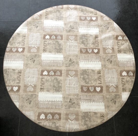 Palace Fashion Tafelzeil - Rond 160 cm - Love Creme