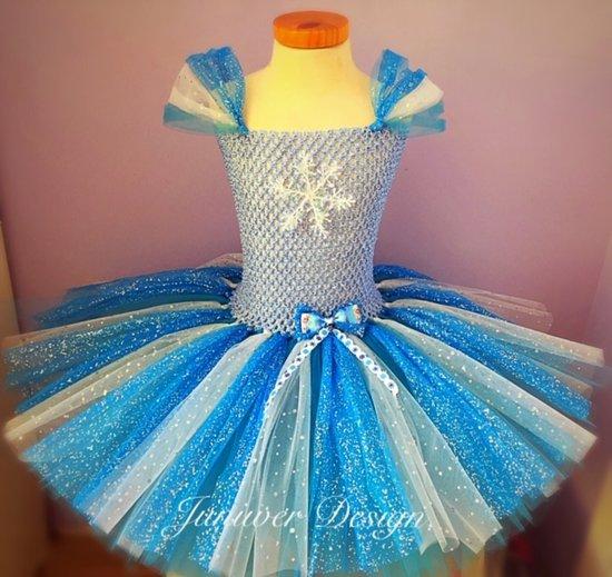 ae4fd7d97e0ad7 Frozen Blauwe tutu jurk