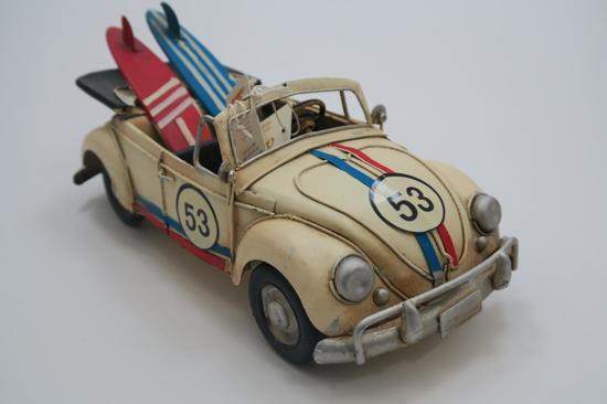 Vw Kever Cabrio Modelauto Herbie Met Decoratie Wit