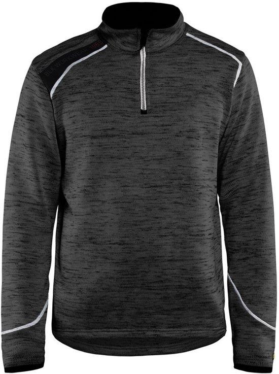 Blåkläder 4943-2117 Gebreid Sweatshirt 1/2 rits Antraciet/wit maat XS