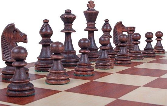 Thumbnail van een extra afbeelding van het spel Staunton No 6 schaakstukken met kistje