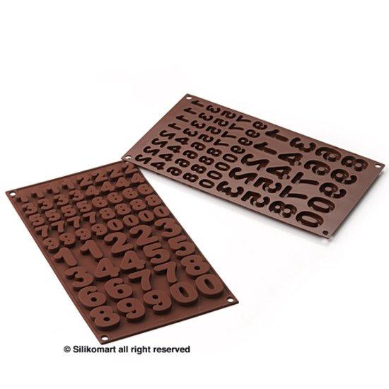 Easy Choc Numbers - Chocoladevorm