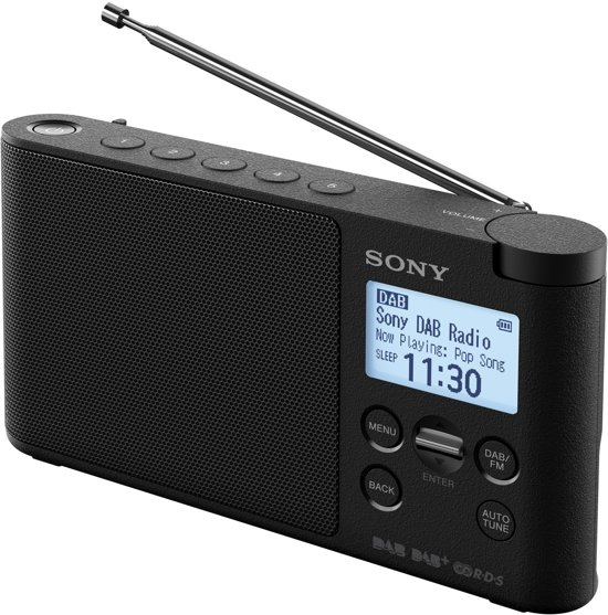 sony xdr s41d dab radio zwart. Black Bedroom Furniture Sets. Home Design Ideas