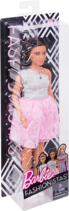 Barbie Fashionistas Powder Pink Lace - Curvy - Barbiepop