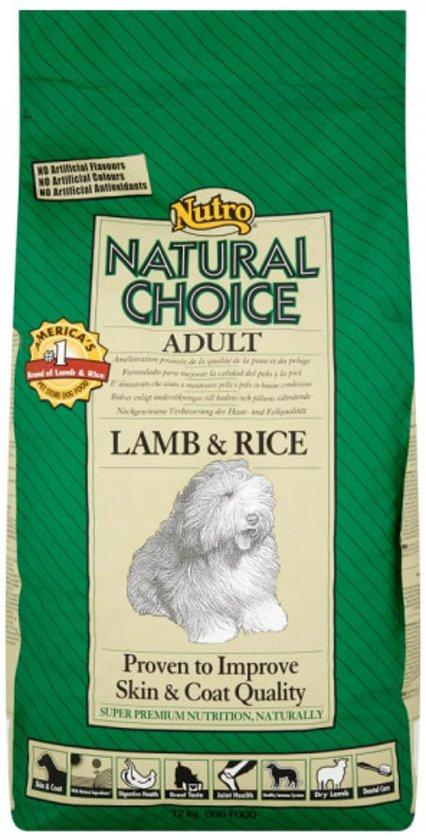 Nutro Choice Dog Adult Hondenvoer - Lam/Rijst - 2 kg