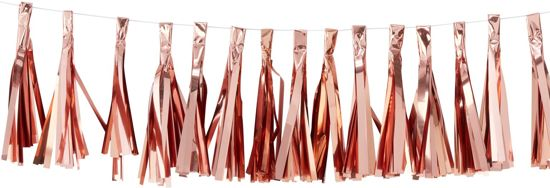 Ginger Ray Pick & Mix - Tassel kwasten slinger - rosé goud - 2 meter Valentinaa