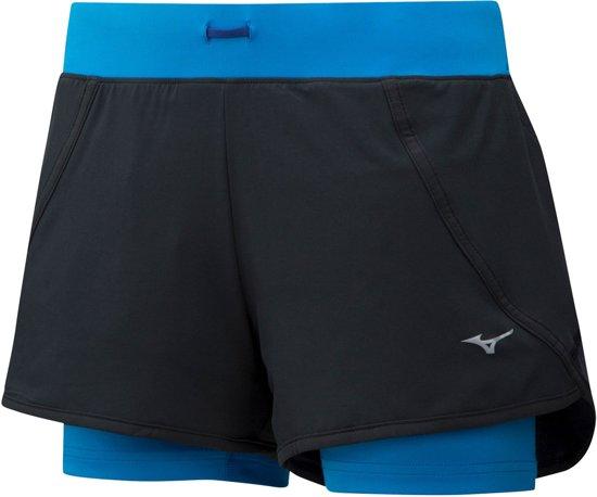 Mizuno Sportbroek - Maat M  - Vrouwen - zwart/blauw