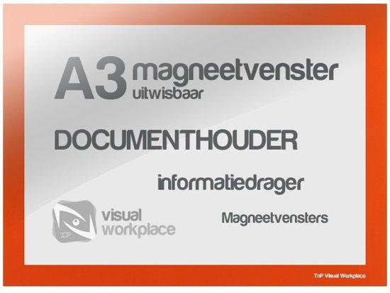 Magneetvenster A3 (uitwisbaar) - Oranje