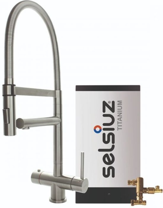 Selsiuz XL Inox (RVS) met TITANIUM Combi boiler