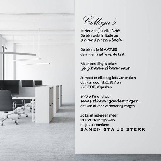 Muursticker Collega's Je Ziet Ze Bijna Elke Dag -  Geel -  120 x 200 cm  - Muursticker4Sale