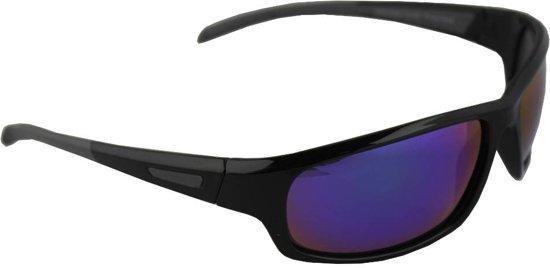 d2bb933f390545 Zonnebril Sport Rechthoek Polariserend Glas Zwart Blauw Meerkleurig GRATIS  Brillenkoker