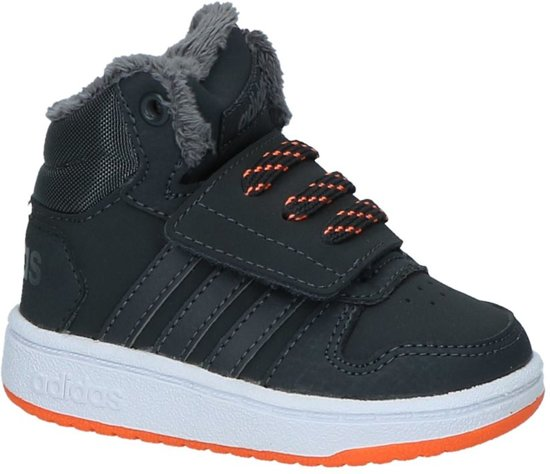 adidas Hoops Mid High 2.0 l Sneakers Jongens Carbon S18