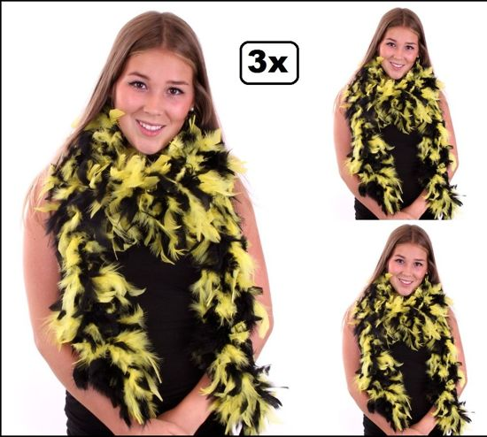 3x Boa brandveilig dik zwart/geel