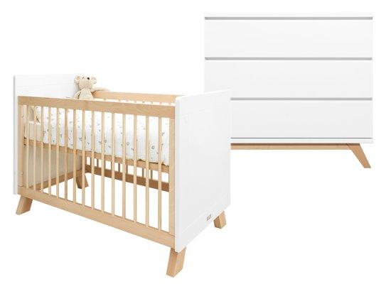 Commode Wit Bopita.Bopita Babykamer Lisa Lynn 2 Delige Bed Commode Wit Naturel
