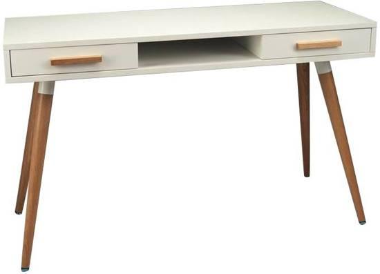vintage schrijftafel bureau 120 cm wit. Black Bedroom Furniture Sets. Home Design Ideas
