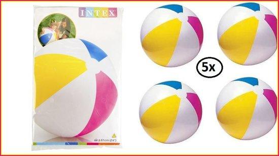 5x Strandbal opblaasbaar 61 cm Intex