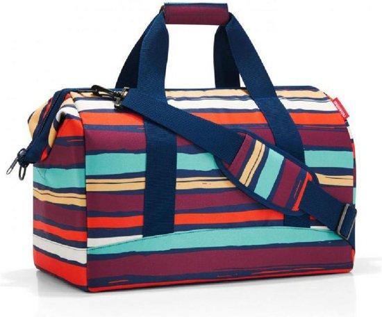 23b8d584942 Reisenthel Allrounder L Reistas Sporttas - Polyester - Maat L - 30L -  Artist Stripes Blauw