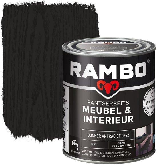 rambo pantserbeits meubelinterieur mat dantraciet 0742 075 ltr