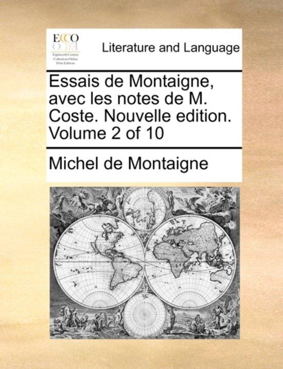 bol.com   Essais de Montaigne, Avec Les Notes de M. Coste. Nouvelle ...