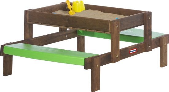 Bol Com Little Tikes 2 In 1 Wooden Sand Amp Picnic Table