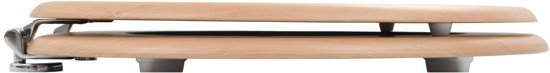 vidaXL Toiletbril met soft-close deksel MDF bamboo print