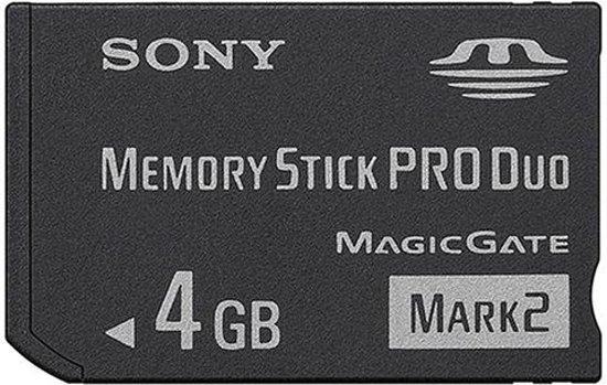 Sony Memory Stick PRO Duo Mark 2 4GB - USB-Stick / Zwart