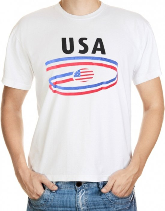 USA t-shirt voor heren L