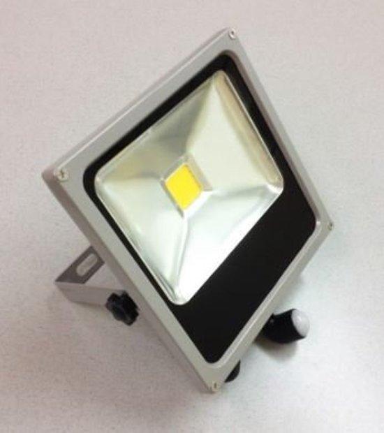 PROFILE LED straler flat - 20W - met bewegingsmelder - IP44 - grijs