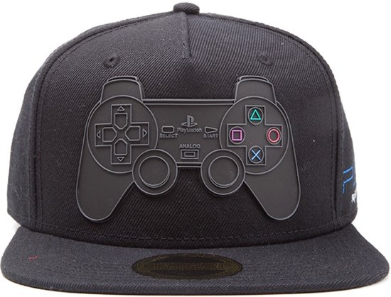 PlayStation 2- Rubber Controller Logo Snapback cap db39111084bb