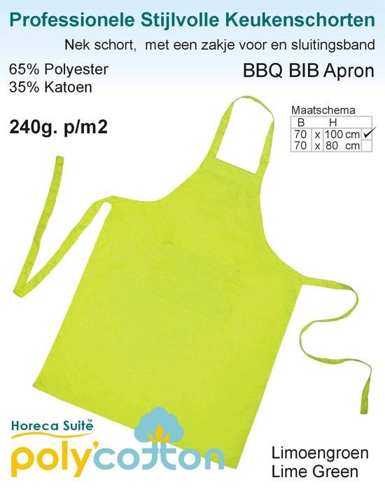 Homéé - Keukenschorten BBQ Apron Lemoen groen  240g. p/m2   Set van 2 stuks   70x100cm