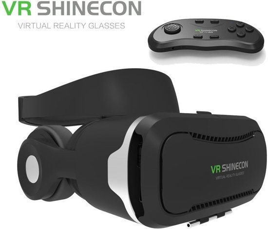 a362593a0a08f5 VR SHINECON 4.0 IMAX VR Bril + Bluetooth Gamepad   Remote Control