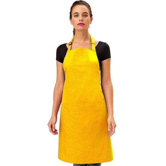 Basic keukenschort voor volwassenen geel