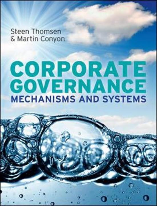 Corporate Governance Mechanisms and Systems