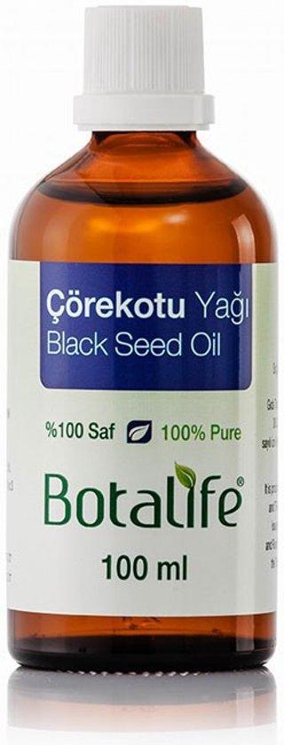 Foto van Botalife - Zwarte komijnzaad olie 100 ml -100% natuurlijk & koud geperst